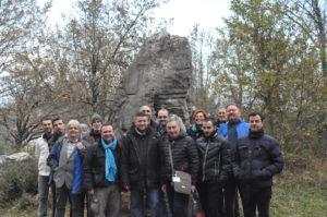 12 Il gruppo con Bauval - Jeff Saward e gli altri ricercatori sul sito del Guardiano