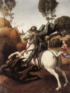 10 Raffaello - S Giorgio e il drago - National Gallery Washington