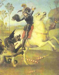 9 Raffaello - S Giorgio e il drago - Parigi - Louvre