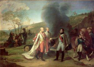 Napoleone e Francesco II dopo la battaglia di Austerlitz