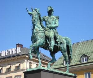Statua di Carlo XIV Giovanni a Slussplan - Stockholm 2012