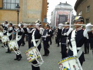 Stockholm - la banda militare a Slottbacken - lugl 2013