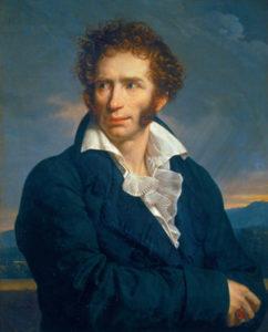 Ugo Foscolo - dipinto di Fabre 1813