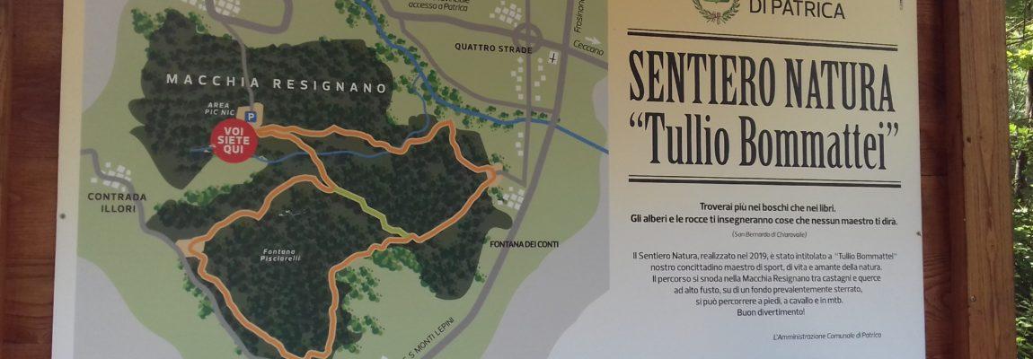"""Inaugurato il """"Sentiero Natura Tullio Bommattei"""" della Macchia Resignano a Patrica (FR)."""