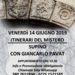 Venerdi' 14  giugno, tornano gli ITINERARI DEL MISTERO…..questa volta tocca a Supino (FR)