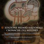Fiuggi (FR), sabato 19 ottobre 2019, 6^ EDIZIONE del PREMIO NAZIONALE CRONACHE DEL MISTERO.