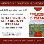 ROMA, MERCOLEDÌ 20 NOVEMBRE – PRESENTAZIONE DEL NUOVO LIBRO DI GIANCARLO PAVAT!