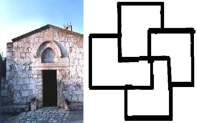 Puglia Misteriosa: una Swastika Lappone nella chiesa di S. Maria della Gallana a Oria; di Marco Di Donato