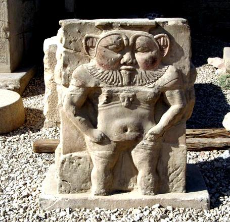P mag Dendera - Tempio di Hathor - dio Bes