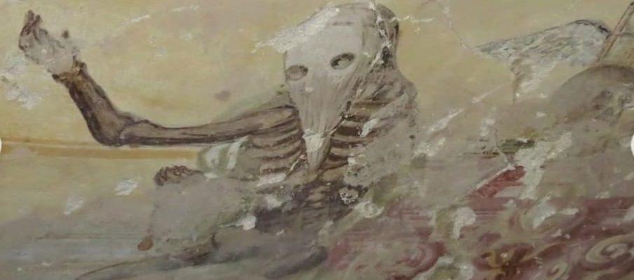 IL TRIONFO DELLA MORTE NEGLI AFFRESCHI DELLA CRIPTA DELLA CHIESA DI SANTA MARIA DEL CARMINE A MONTEFORTE IRPINO (AV); di Riccardo Sica.